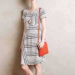 Maeve Anthropologie Stripestack Shift Dress Sz S
